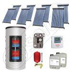 Panouri solare cu tuburi vidate import China, Seturi colectoare solare si boiler instant SIU 8x10-800.43.3BI, Set colectoare solare cu tuburi vidate si boiler instant 800 litri
