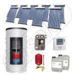 Panouri solare cu tuburi vidate import China, Seturi colectoare solare si boiler instant SIU 9x10-800.43.2BI, Set colectoare solare cu tuburi vidate si boiler instant 800 litri