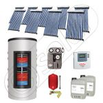 Panouri solare cu tuburi vidate import China, Seturi colectoare solare si boiler instant SIU 9x10-800.43.3BI, Set colectoare solare cu tuburi vidate si boiler instant 800 litri