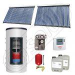 Set colectoare solare cu tuburi vidate si boiler instant 500 litri, Panouri solare cu tuburi vidate import China, Seturi colectoare solare si boiler instant SIU 2x30-500.33.2BI