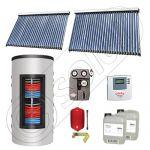 Set colectoare solare cu tuburi vidate si boiler instant 500 litri, Panouri solare cu tuburi vidate import China, Seturi colectoare solare si boiler instant SIU 2x30-500.33.3BI