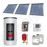 Set colectoare solare cu tuburi vidate si boiler instant 500 litri, Panouri solare cu tuburi vidate import China, Seturi colectoare solare si boiler instant SIU 3x20-500.33.2BI