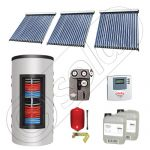 Set colectoare solare cu tuburi vidate si boiler instant 500 litri, Panouri solare cu tuburi vidate import China, Seturi colectoare solare si boiler instant SIU 3x20-500.33.3BI