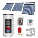 Set colectoare solare cu tuburi vidate si boiler instant 500 litri, Panouri solare cu tuburi vidate import China, Seturi colectoare solare si boiler instant SIU 4x20-500.33.2BI
