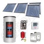 Set colectoare solare cu tuburi vidate si boiler instant 500 litri, Panouri solare cu tuburi vidate import China, Seturi colectoare solare si boiler instant SIU 4x20-500.33.3BI