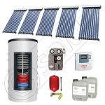 Set colectoare solare cu tuburi vidate si boiler instant 500 litri, Panouri solare cu tuburi vidate import China, Seturi colectoare solare si boiler instant SIU 5x10-500.33.2BI