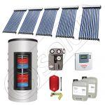 Set colectoare solare cu tuburi vidate si boiler instant 500 litri, Panouri solare cu tuburi vidate import China, Seturi colectoare solare si boiler instant SIU 5x10-500.33.3BI