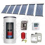 Set colectoare solare cu tuburi vidate si boiler instant 500 litri, Panouri solare cu tuburi vidate import China, Seturi colectoare solare si boiler instant SIU 6x10-500.33.2BI