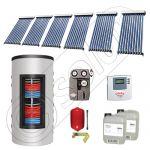 Set colectoare solare cu tuburi vidate si boiler instant 500 litri, Panouri solare cu tuburi vidate import China, Seturi colectoare solare si boiler instant SIU 6x10-500.33.3BI
