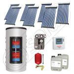 Set colectoare solare cu tuburi vidate si boiler instant 500 litri, Panouri solare cu tuburi vidate import China, Seturi colectoare solare si boiler instant SIU 7x10-500.33.3BI