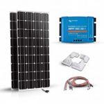 Kit solar pentru rulote, autorulote si barci cu doua panouri fotovoltaice monocristaline 180W 12V, un regulator de incarcare MPPT 30A, conectori MC4 si 4 colturi de fixare pret ieftin