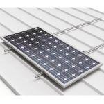 Sistem de montaj rapid pentru 5 panouri fotovoltaice pe acoperisurile din tabla cutata cu dispunerea pe verticala a modulelor pret ieftin