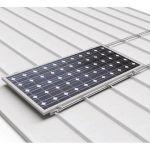 Structura pentru sustinerea pe acoperis a doua panouri fotovoltaice monocristaline sau policristaline dispuse orizontal pret ieftin