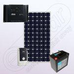 Kit fotovoltaic monocristalin cu invertor IPM150W-550W-6.6F-6A-50Ah