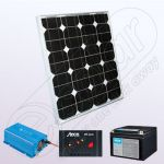 Kit fotovoltaic off-grid pentru casa 12V cu invertor IPM30W-180W-12V-3A-24AhKit fotovoltaic 12V IPM30W-180W-12V-3A-24Ah