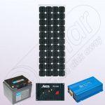 Kit solar fotovoltaic cu invertor IPM100W-350W-12V-5A-33Ah