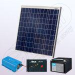 Kituri fotovoltaice policristaline cu invertor IPP60W-180W-12V-5A-33Ah