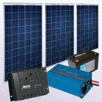 Kituri solare fotovoltaice de sine statatoare cu invertor IPP200Wx3-800W-PRS2020-20Ah-89Ah