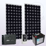 Kituri solare fotovoltaice independente cu invertor IPM200Wx2-550W-PRS1515-15Ah-76Ah