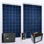 Kituri voltaice policristaline independente cu invertor IPP200Wx2-550W-PRS1515-15Ah-76Ah