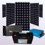 Sistem fotovoltaic monocristalin off-grid cu invertor IPM200Wx5-1200W-Tarom235-35Ah-150Ah