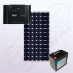Sistem fotovoltaic off-grid pentru casa 12V IPM150W-6.6F-6A-50Ah