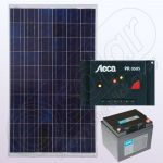Sistem solar electric independent rezidential IPP100W-12V-5A-33Ah