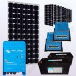 Sistem solar fotovoltaic stand alone cu invertor IPM200Wx10-3000W-VIC40MPPTx2-205Ahx2