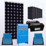 Sistem solar fotovoltaic stand alone cu invertor IPM200Wx8-2000W-VIC40MPPTx2-150Ahx2