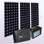 Sistem solar fotovoltaic stand alone pentru case IPM200Wx3-PRS2020-20Ah-89Ah