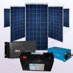 Sisteme fotovoltaice policristaline cu invertor IPP200Wx5-1200W-Tarom235-35Ah-150Ah