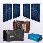 Sisteme fotovoltaice stand alone cu invertor IPP200Wx4-1200W-Tarom235-35Ah-150Ah