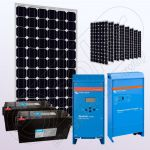 Sisteme fotovoltaice solare independente cu invertor IPM200Wx9-2000W-VIC70MPPT-150Ahx2