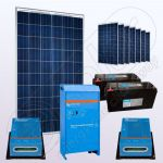 Sisteme solare electrice independente cu invertor IPP200Wx8-2000W-VIC40MPPTx2-150Ahx2