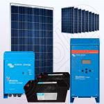 Sisteme solare fotovoltaice de sine statatoare cu invertor IPP200Wx10-3000W-VIC70MPPT-205Ahx2