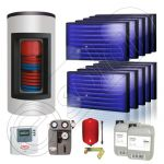 Panouri solare Idella si boiler Kombi set 10x1-600.150.2KS