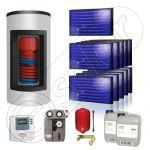 Panouri solare Idella si boiler Kombi set 11x1-1000.200.2KS