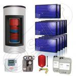 Panouri solare Idella si boiler Kombi set 12x1-1000.200.2KS