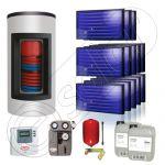 Panouri solare Idella si boiler Kombi set 13x1-1000.200.2KS
