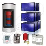 Panouri solare Idella si boiler Kombi set 14x1-1000.200.2KS