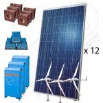 Kit fotovoltaic hibrid off-grid 4800W-Hi-MTT
