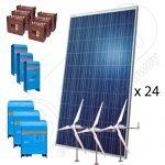 Kituri fotovoltaice hibride cu eoliene 23000W-Hi-QTT
