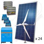 Sistem fotovoltaic hibrid cu eoliana 8KW-Hi-QVM