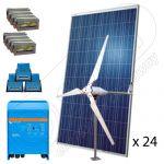 Sistem solar fotovoltaic hibrid monofazat 8KW-Hi-QVM
