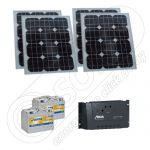 Kit electric fotovoltaic pentru camping 12V 400Wh
