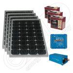 Kit fotovoltaic solar pentru barci 220V 660Wh