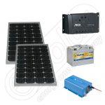Kit fotovoltaic solar pentru pescuit 220V 330Wh