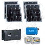 Kit solar fotovoltaic cu invertor pentru excursii 220V 400Wh