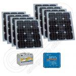 Kituri fotovoltaice solare mobile 12V 800Wh