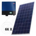 Instalatie solara 16.5 kW trifazata de panouri fotovoltaice cu injectie in retea cu invertoare SMA